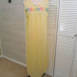 Vintage embroidery lace nightgown LG *V